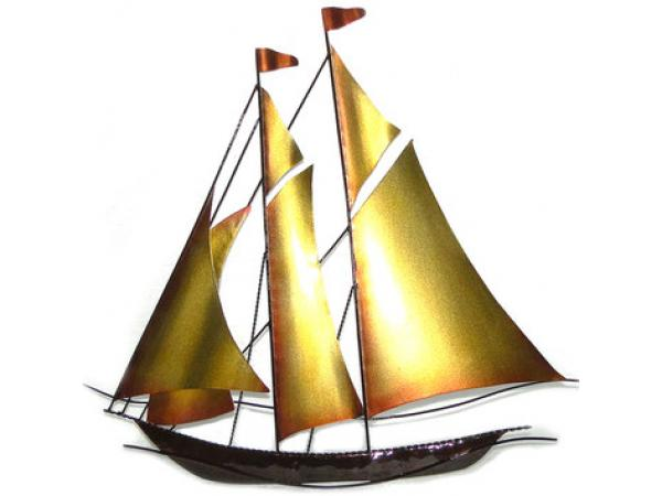 Sailboat Metal Wall Art - Metal Wall Decor - fzdongsen.com