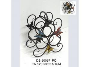 China Metal Wine Holder with Butterfly