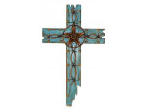 Wall CROSS WITH METAL STAR