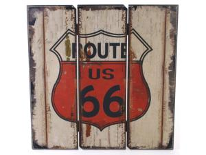 Shabby Chic Route 66 Wood wall sign