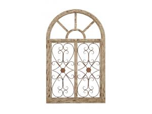 VINTAGE CHIC ARCHED WINDOW PANE WALL