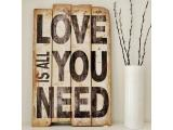 Love Wooden Wall Sign